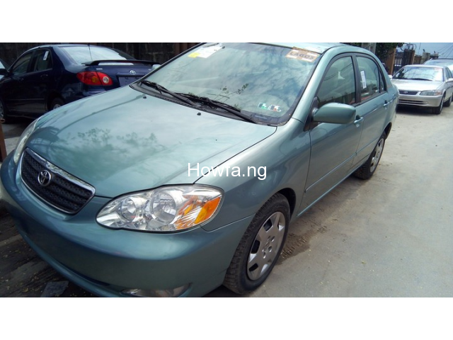 Foreign used Toyota corolla 2005 - 1