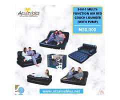 5 In 1 Inflatable Multi function Double Air Bed Sofa Chair Couch