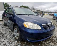 Clean sparkling Toyota Corolla sport 2005 model in a perfect condition