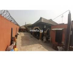 4 bedroom bungalow + a mini flat boysquater for sale at Gbagada Lagos