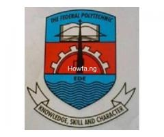 Federal Polytechnic Ede Admission Form for 2020/2021 Post-UTME Form / HND Form is now out