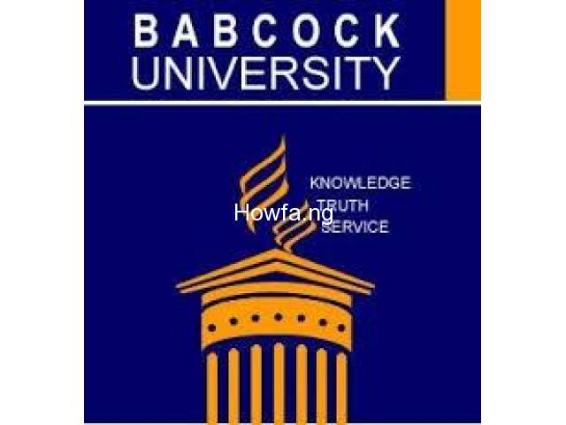 Babcock University 2020/2021 Admission Form/Post UTME Form Call 09059158007. - 1