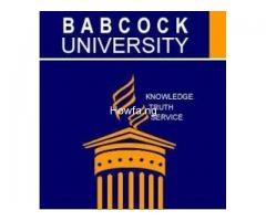 Babcock University 2020/2021 Admission Form/Post UTME Form Call 09059158007.