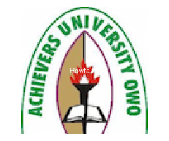 Achievers University is in Owo, Ondo State Admission