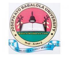 Yes Joseph Ayo Babalola University, Ikeji-Arakeji 2020/2021 Post Utme Form/Direct Entry Form is out